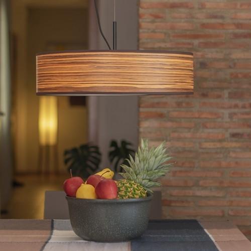 Drewniana lampa wisząca Bulb Attack Ocho Slim 1/S - Zebrano