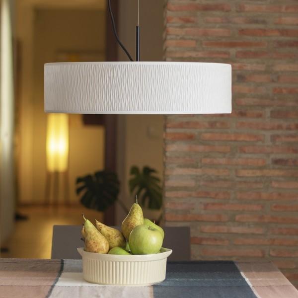Biała lampa wisząca Bulb Attack Once Slim 1/S