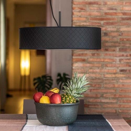 Czarna lampa wisząca Bulb Attack Trece Slim 1/S
