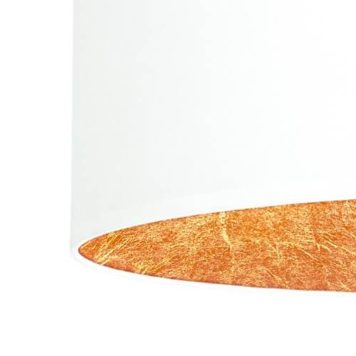 Tekstylny abażur lampy Bulb Attack Tres - biały z płatkami miedzi