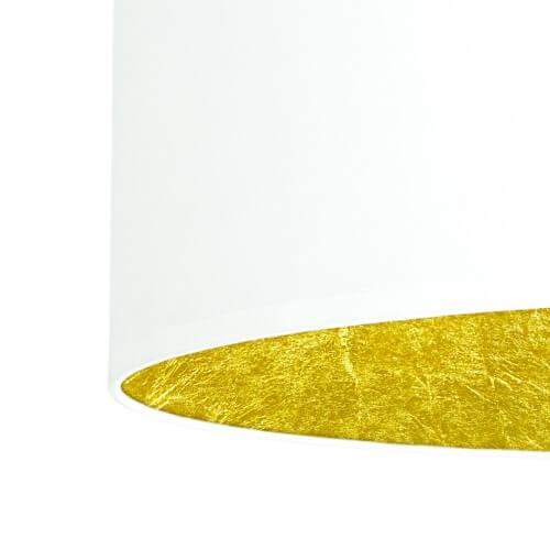Tekstylny abażur lampy Bulb Attack Tres - biały z płatkami złota