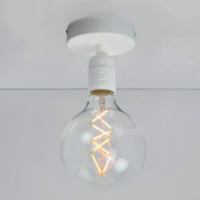 Biały plafon Bulb Attack Uno Basic C1