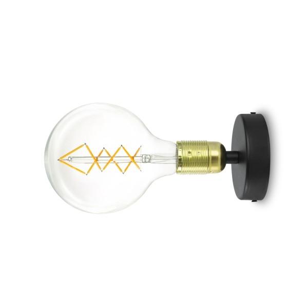 Wandleuchte Bulb Attack Uno Basic W1 gold & schwarz