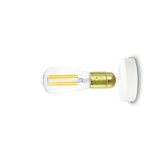 Wandlampe Bulb Attack Uno Basic W1 gold & weiß