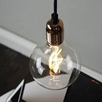 Dekoracyjna złota lampa wisząca Bulb Attack Uno
