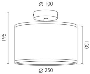 Deckenleuchte Bulb Attack Doce 1 CP Dimensionen