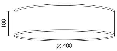 Deckenleuchte Bulb Attack Trece L/C Dimensionen