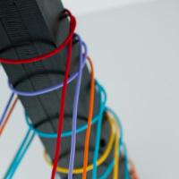 Kabel w dekoracyjnym oplocie tekstylnym - dużo kolorów