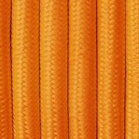 Pomarańczowy przewód do lamp w oplocie dekoracyjnym z poliestru