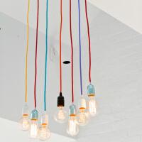 Tekstylny kolorowy kabel w oplocie dekoracyjnym do lamp
