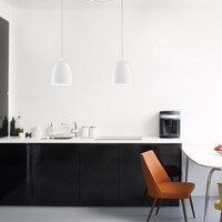 Szklana lampa sufitowa Sotto Luce Awa z designerskim kloszem