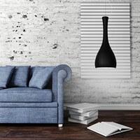 Szklana lampa wisząca Sotto Luce Itteki z kloszem czarny mat