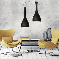 Szklana lampa sufitowa Sotto Luce Itteki 2/S czarny mat