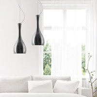 Nowoczesna lampa sufitowa Sotto Luce Itteki 2/S srebro/opal