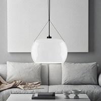 Nowoczesna lampa sufitowa Sotto Luce Momo z kloszem opal