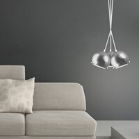 Dekoracyjna lampa Sotto Luce Myoo Elementary 3B/S srebro