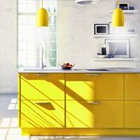 Wysokiej jakości lampa Sotto Luce Ume z żółtym kloszem