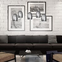 Regulowana lampa Sotto Luce Ume ze srebrnym kloszem