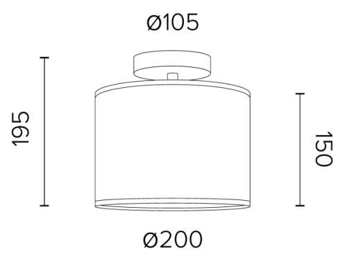 Mini-Deckenleuchte Sotto Luce Taiko 1 CP Dimensionen